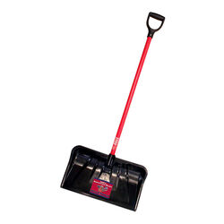 Bully Tools 22 in. W x 55 in. L Poly Snow Shovel