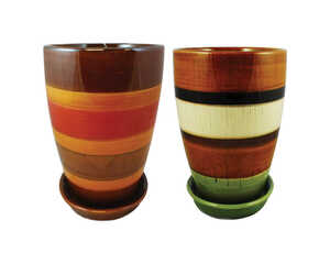 Trendspot  6 in. H x 6 in. W Multicolored  Ceramic Pot