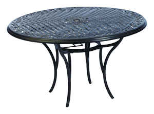 Living Accents  Brown  Carlisle  Round  Aluminum  Dining Table