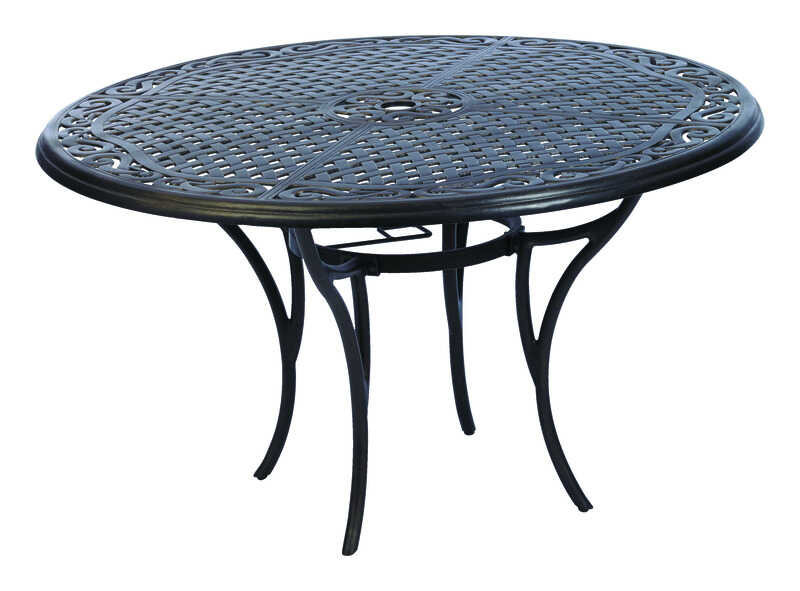 Living Accents  Carlisle  Brown  Round  Aluminum  Dining Table