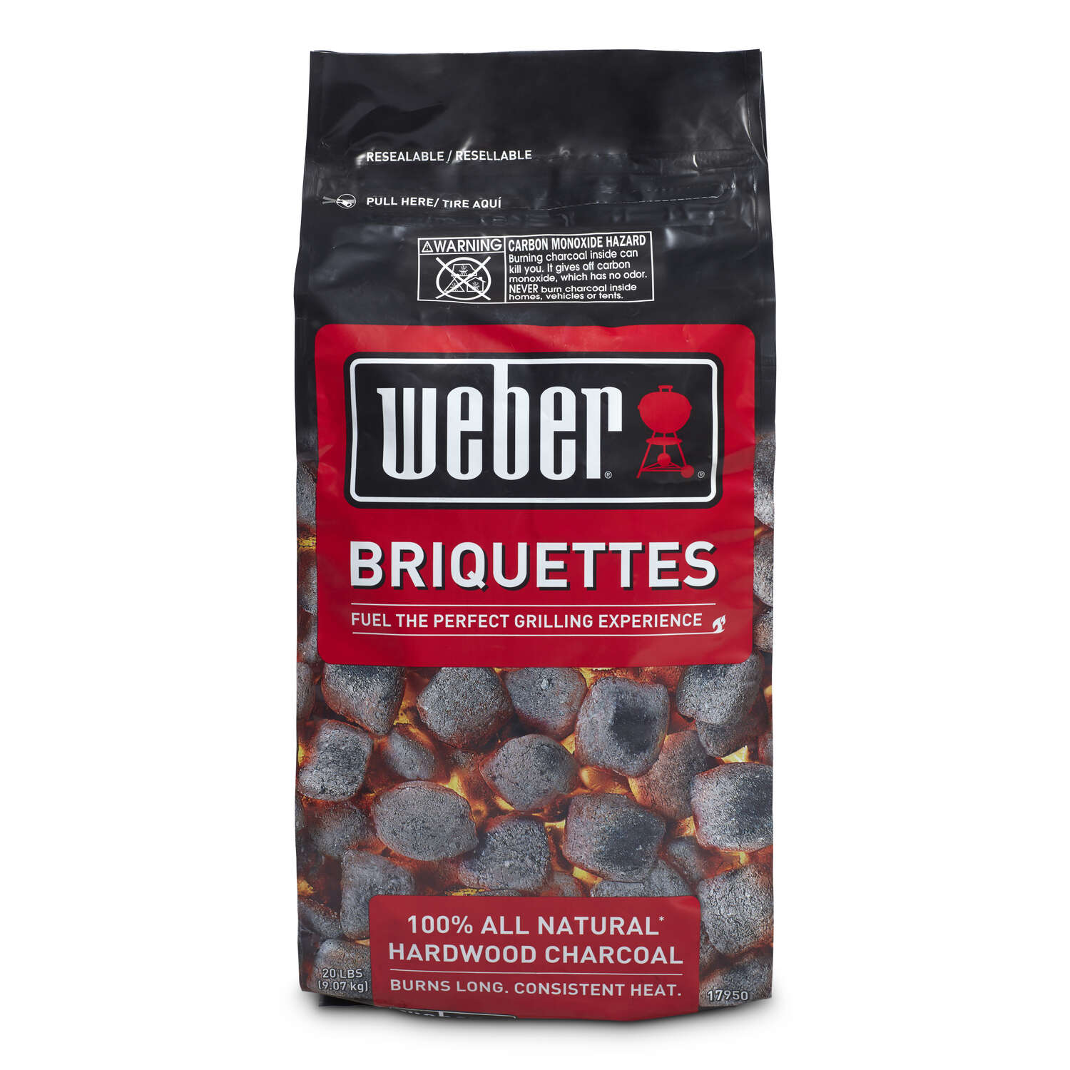 Weber  Hardwood  20 lbs.  Charcoal Briquettes