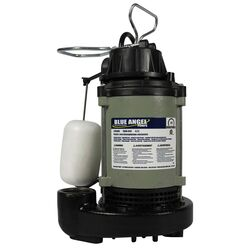 Blue Angel 1/3 hp 4,620 gph Cast Iron Vertical Float Switch AC Submersible Sump Pump