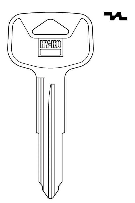 Hy-Ko  Automotive  Key Blank  EZ# TR53  Double sided For Fits 1993-19995 Corolla Wagon