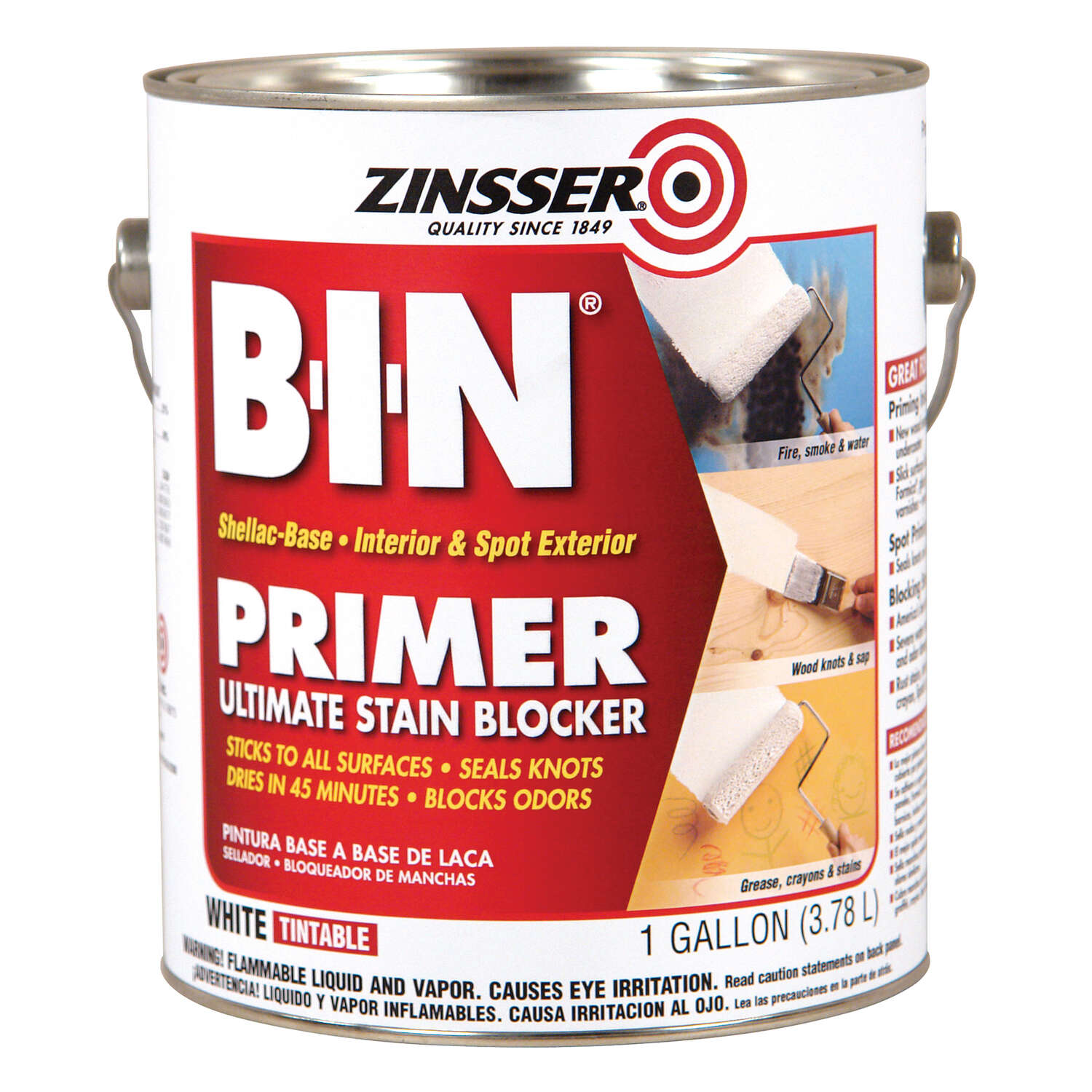 Zinsser  B-I-N  White  Shellac-Based  Primer and Sealer  1 gal.