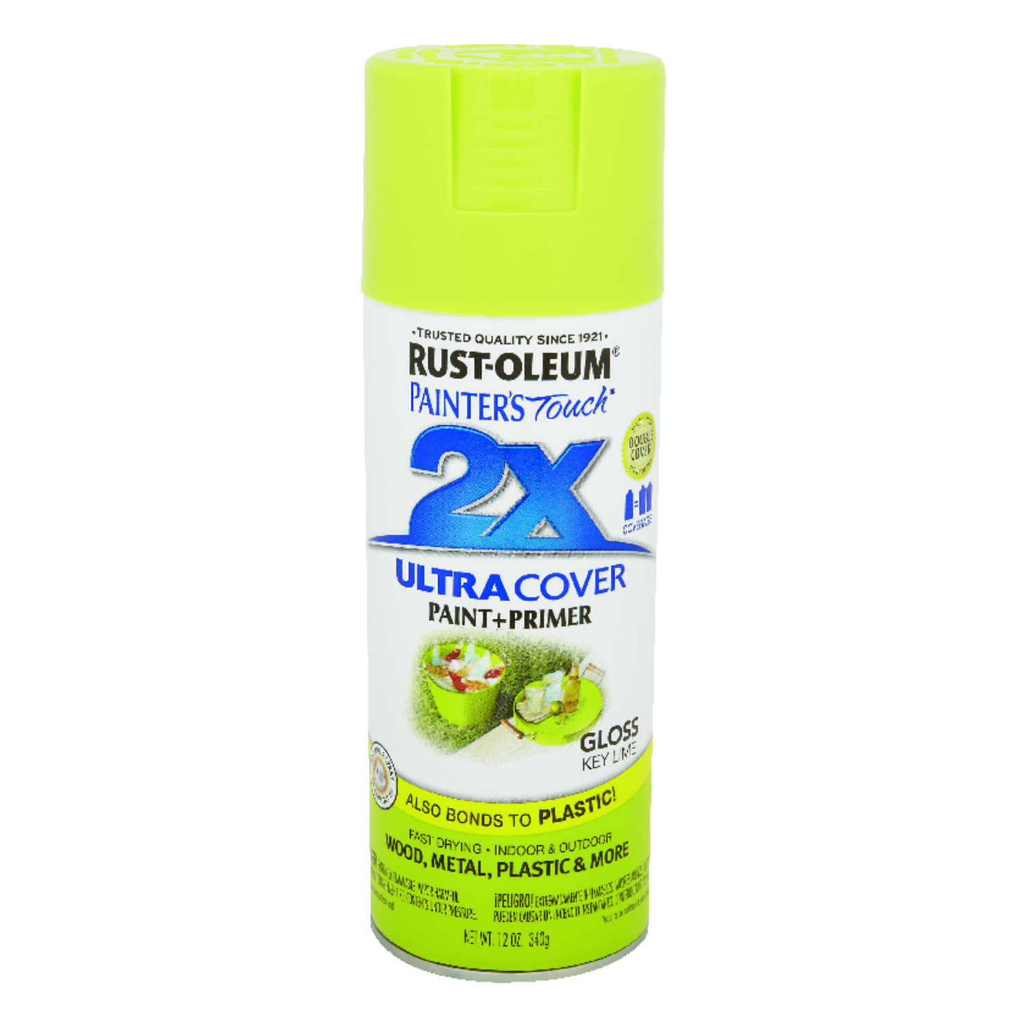 Rust-Oleum  Painter's Touch Ultra Cover  Gloss  Key Lime  Spray Paint  12 oz.