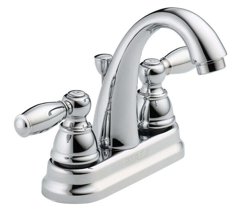 Peerless Claymore Chrome Two Handle Lavatory Faucet 4 in.