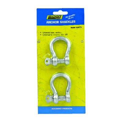 Seachoice Galvanized Steel 11.5 in. L x 3/8 in. W Shackle 2 pk
