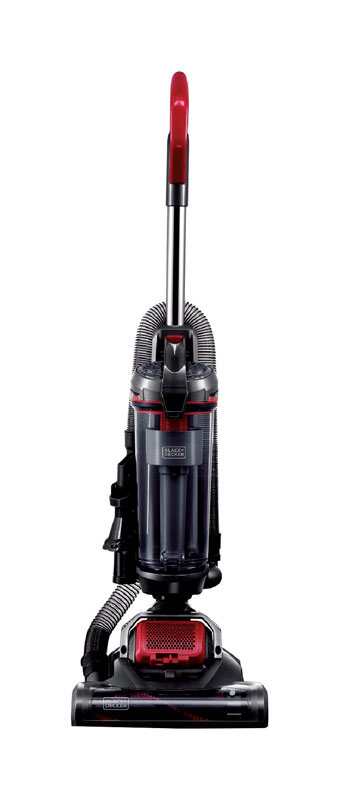 Black and Decker  AIRSWIVEL Versatile  Bagless  Upright Vacuum  7 amps Standard  Multicolored