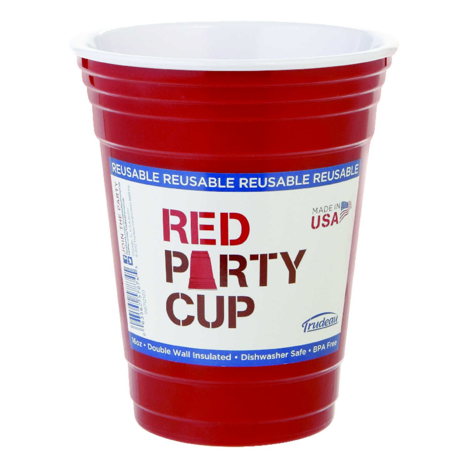Trudeau  Red  Plastic  Party Cup  1 each
