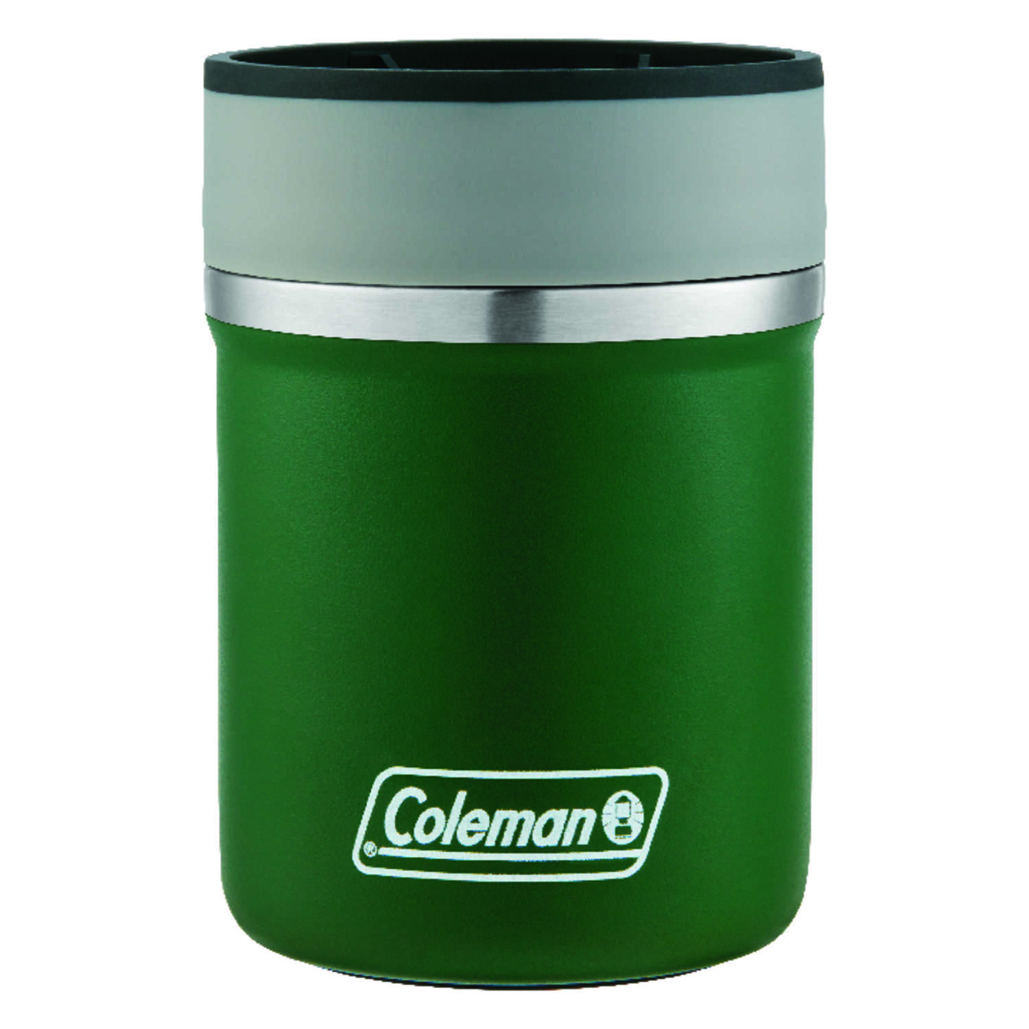 Coleman  Lounger  Heritage Green  Stainless Steel  Insulated  Beverage Coozie  BPA Free