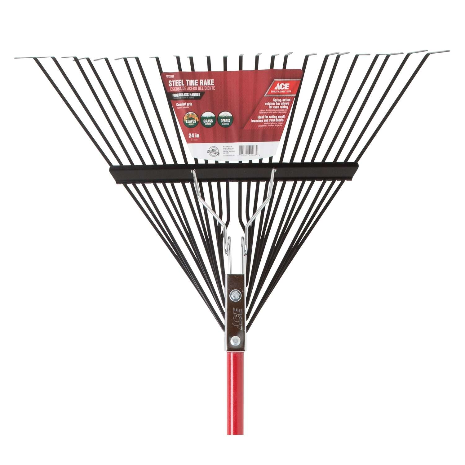 Ace  65 in. L x 24 in. W Steel  Rake