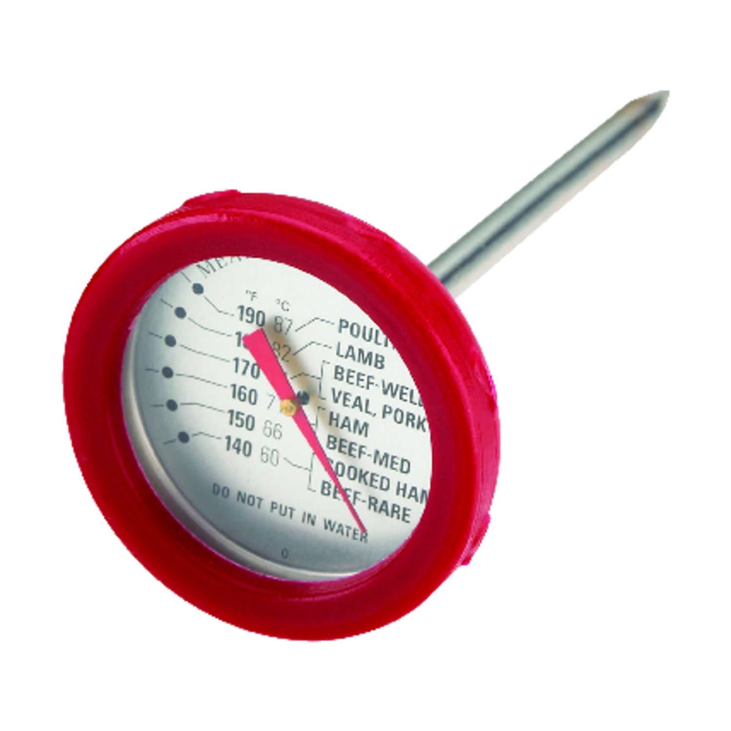 Grill Mark  Stainless Steel  Grill Thermometer  7.8 in. H x 2.3 in. W x 4 in. L