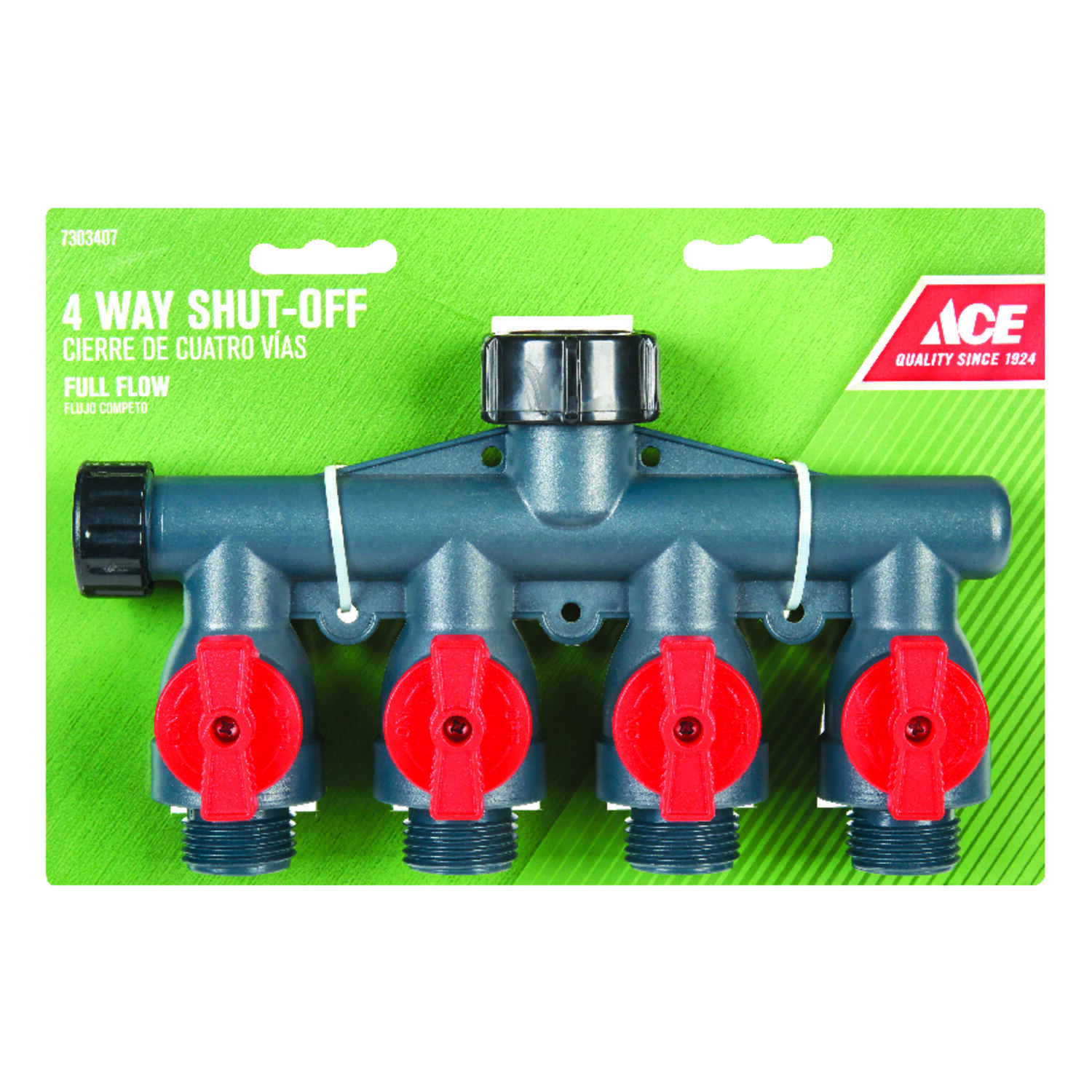 Ace  Plastic  Threaded  Male  Garden Hose Manifold