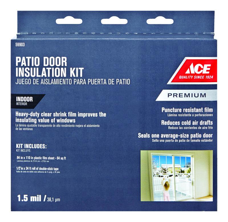 Patio Door Insulation Kit Plastic For
