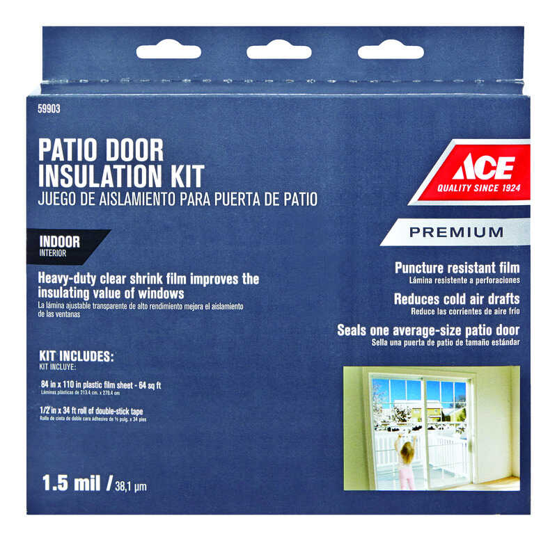 Ace  Clear  Plastic  Insulation Kit  For Patio Door 84 in. L x 1.5 ml