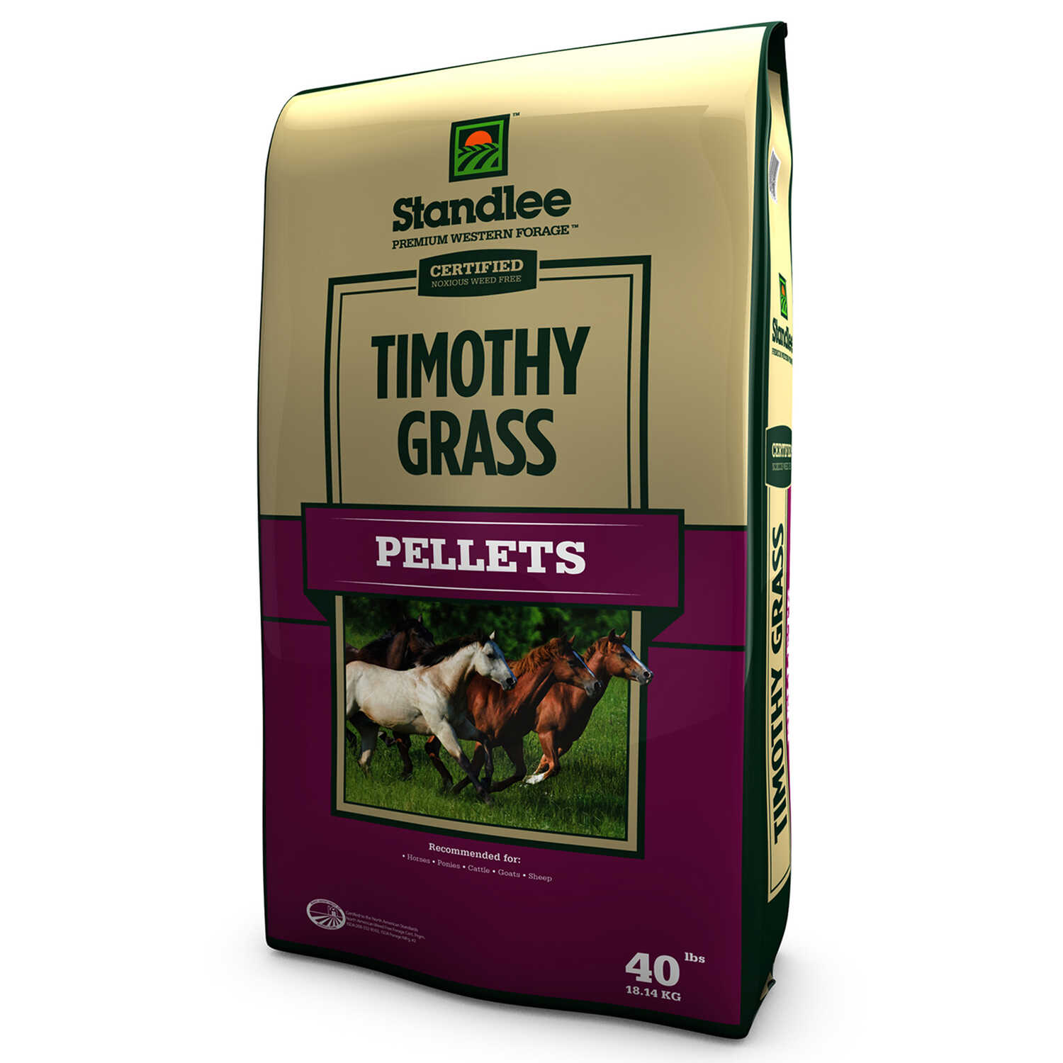 Standlee Premium Western Forage  Timothy Grass  Pellets  For Horses 40 lb.