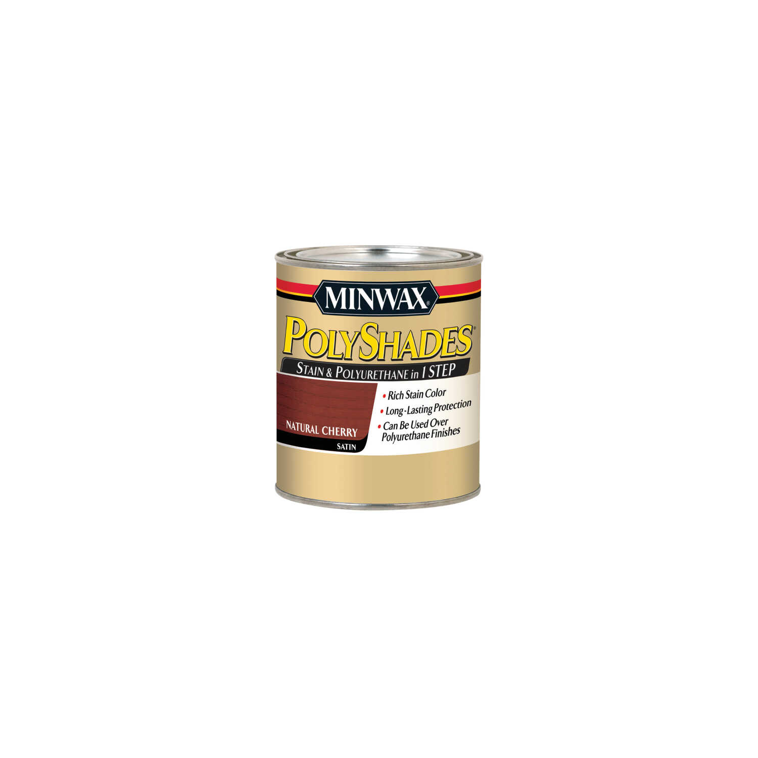 Minwax  PolyShades  Semi-Transparent  Satin  Natural Cherry  Oil-Based  Stain  0.5 pt.