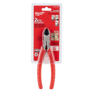 Milwaukee  8 in. Forged Alloy Steel  Diagonal Cutting Pliers  Red  1 pk