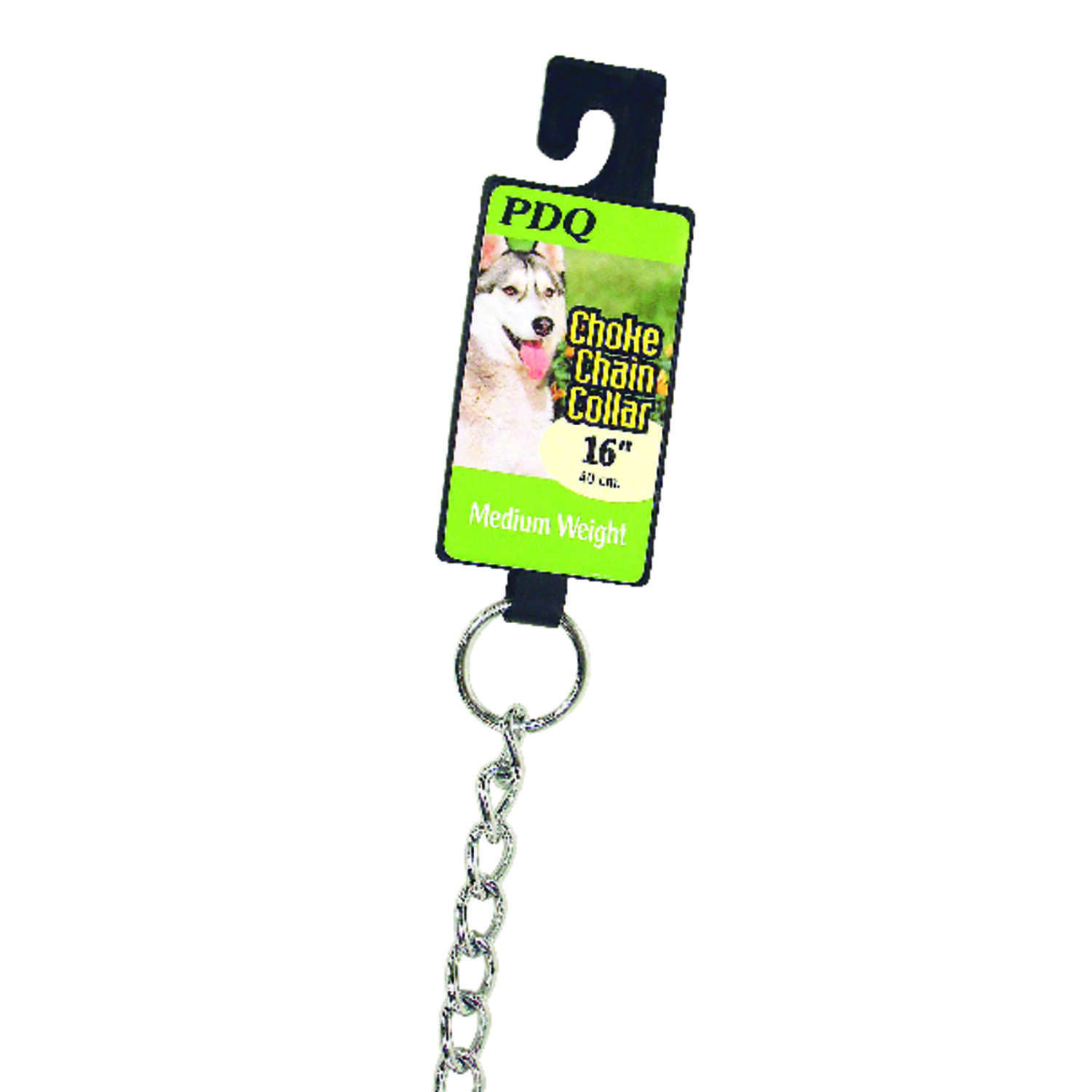 PDQ  Silver  Steel  Dog  Choke Chain Collar  Medium