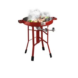 FireDisc  Liquid Propane  Grill  Fireman Red  1 burners
