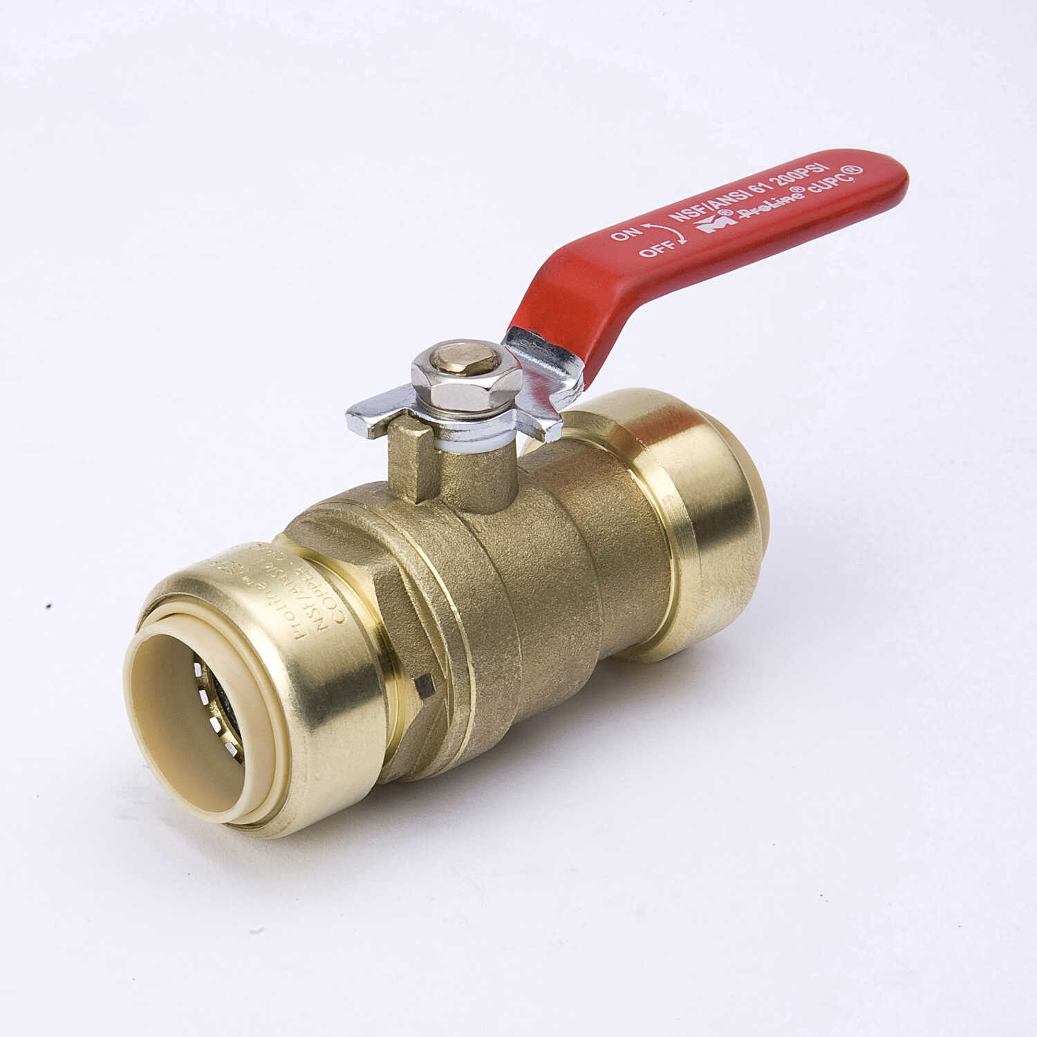 Mueller  Ball Valve  1 in. Push Fit   x 1 in. Dia. Push Fit  Brass  Packing Gland