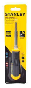 Stanley  6 piece  Assorted  Screwdriver  Steel  Black  1 pc.