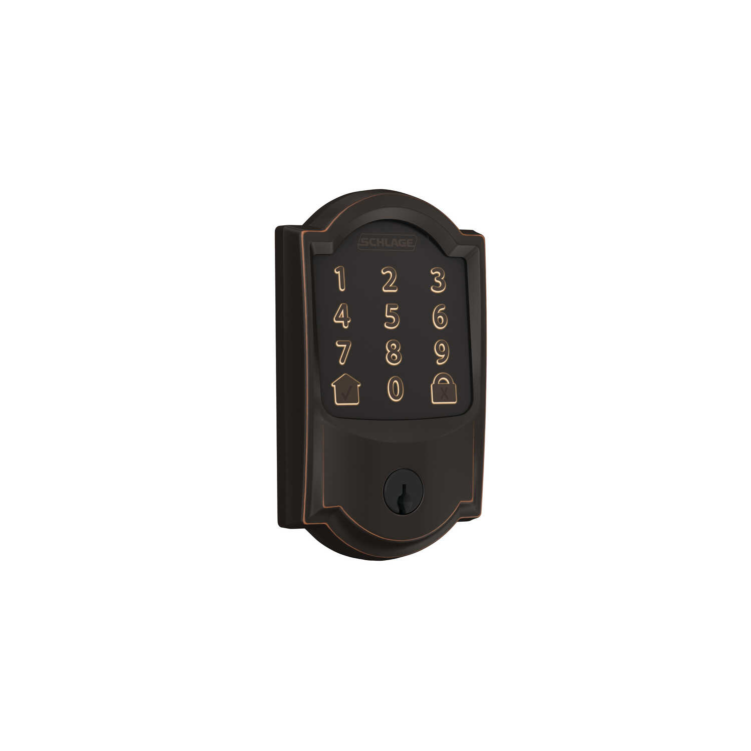Schlage  Encode  Aged Bronze  Metal  Wifi Deadbolt