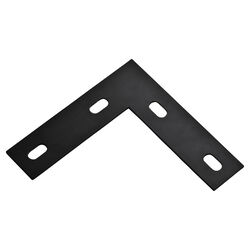National Hardware  6 in. H x 1.5 in. W x .125 in. D Low Carbon Steel  Flat  Corner Brace