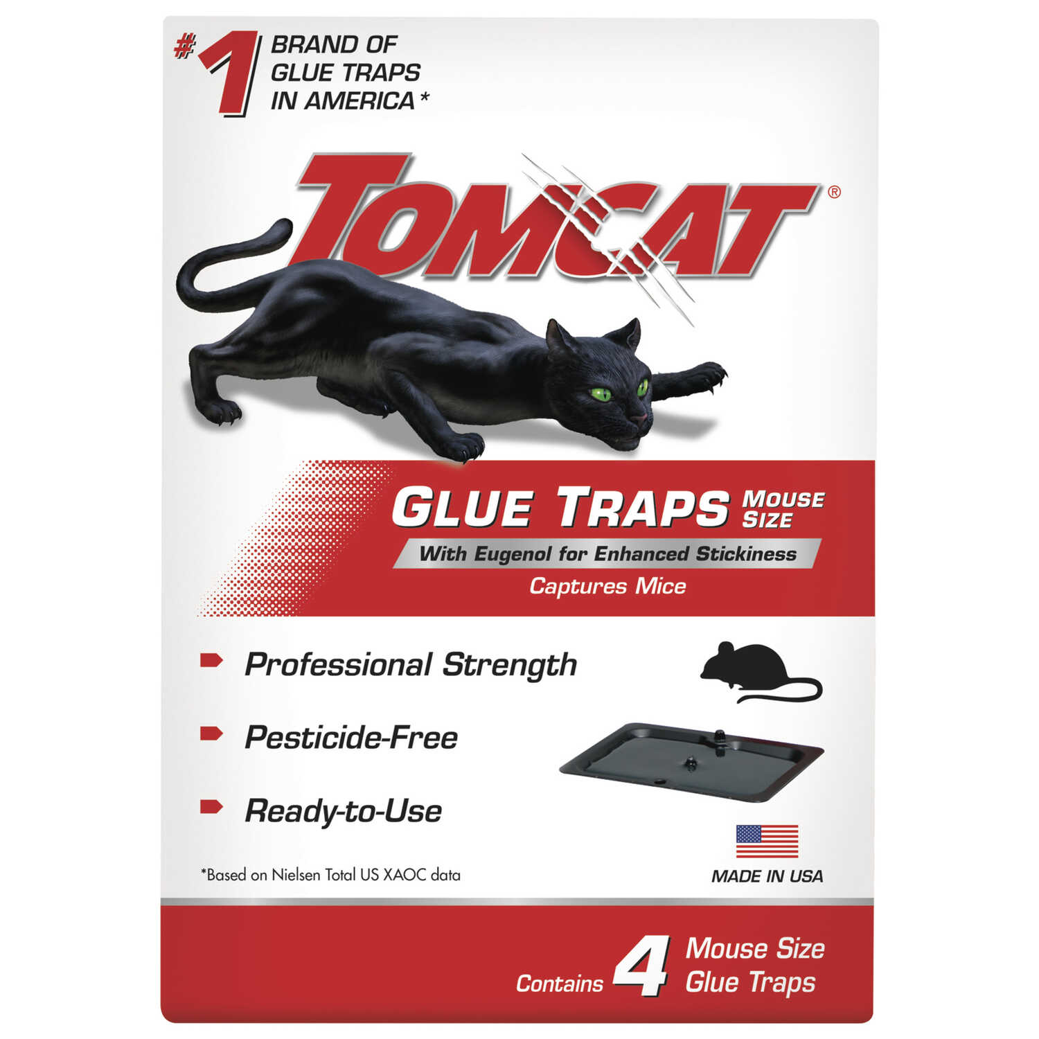Tomcat  Small  Glue  Glue Board Insert  For Mice 4 pk