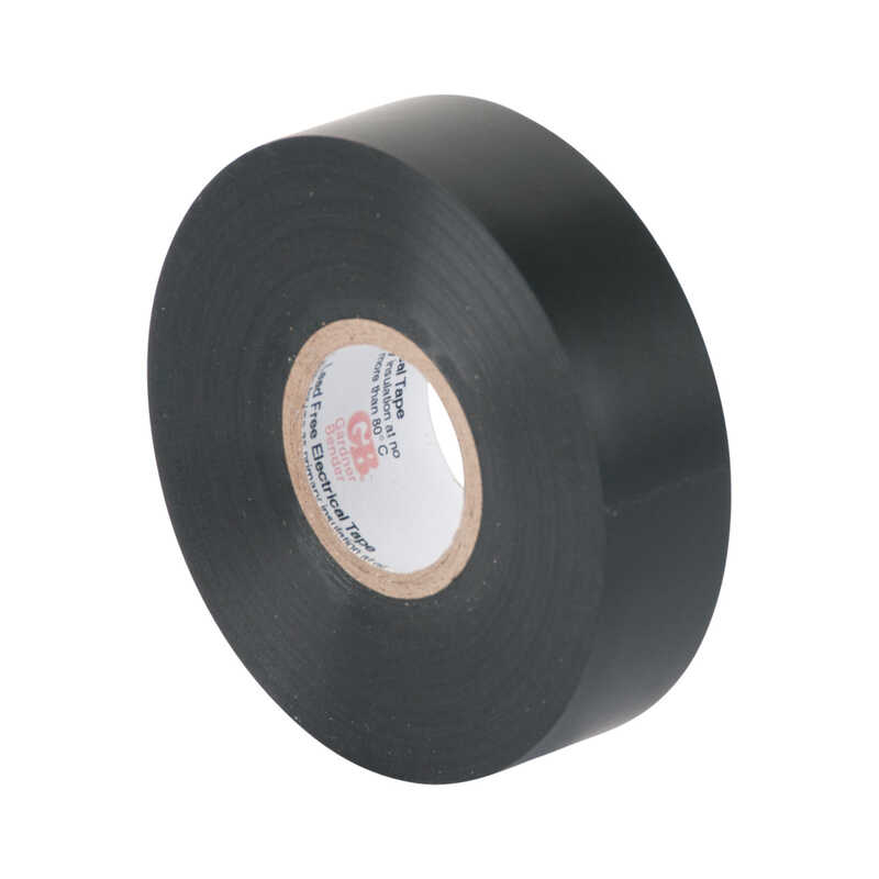 Gardner Bender  3/4 in. W x 60 ft. L Black  Vinyl  Electrical Tape