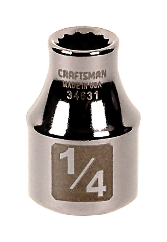 Craftsman  1/4 in.  x 3/8 in.  SAE  12 Point Standard  Socket  1 pc.