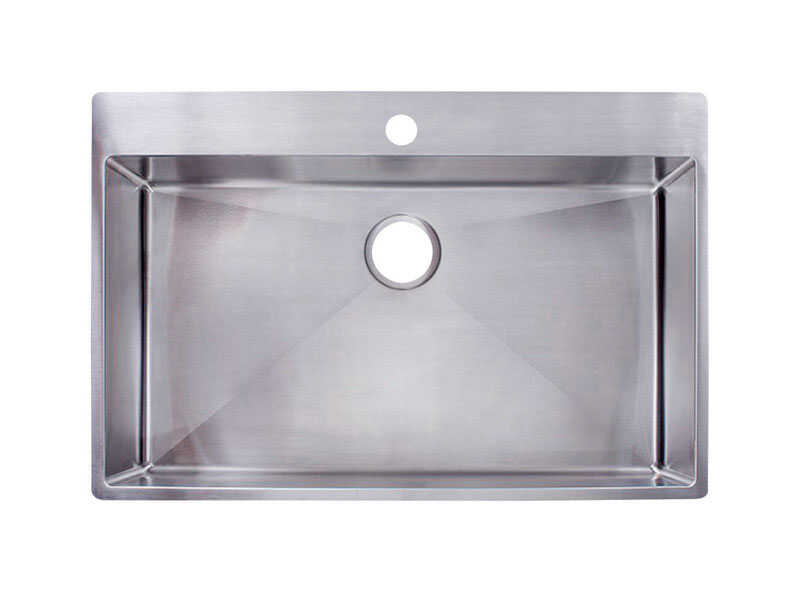 Franke  Stainless Steel  Dual Mount  33-7/16 in. W x 22-7/16 in. L Kitchen Sink