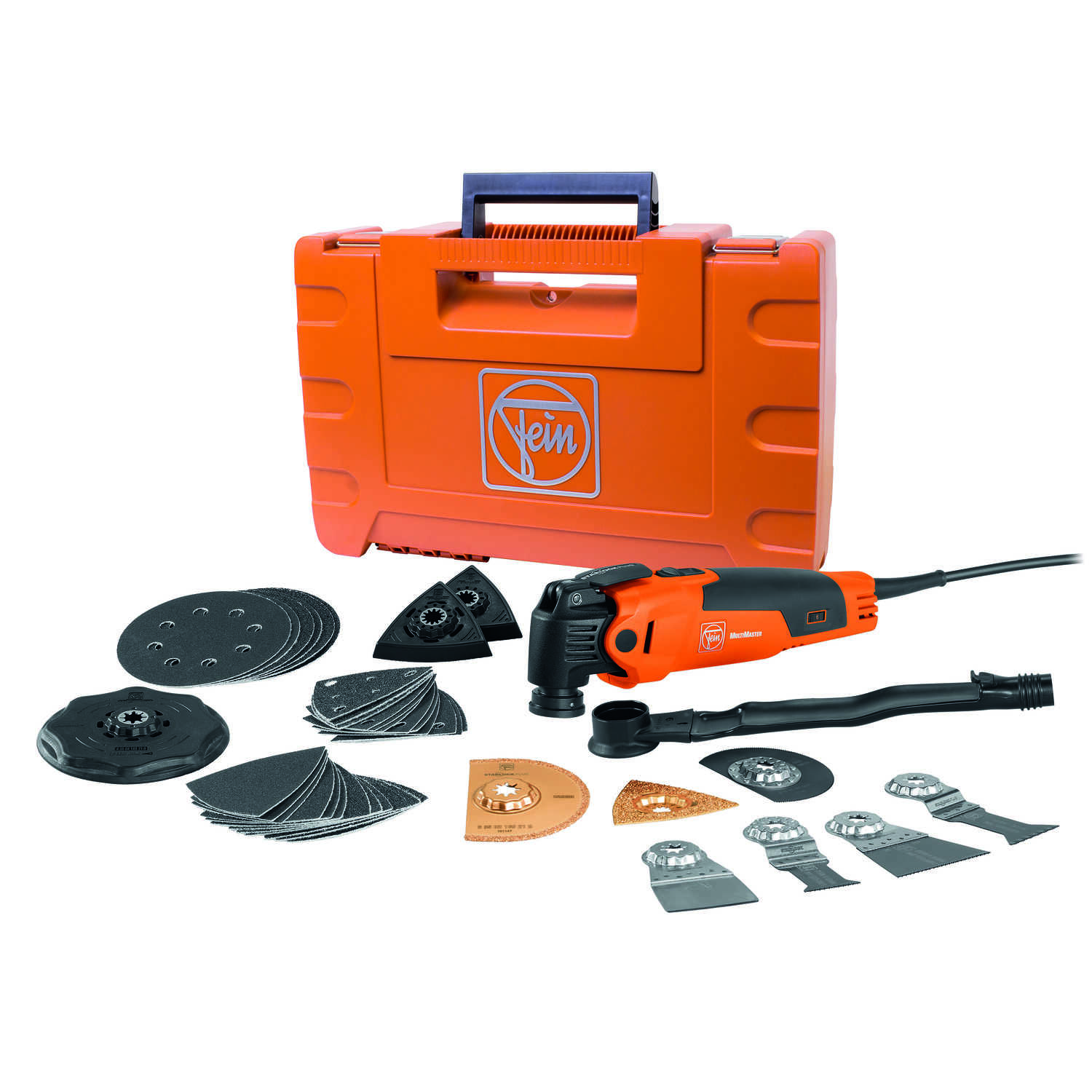 Fein  MultiMaster  3 amps 110 volt Corded  Oscillating Multi-Tool  19500 opm Orange  1 pc. Kit