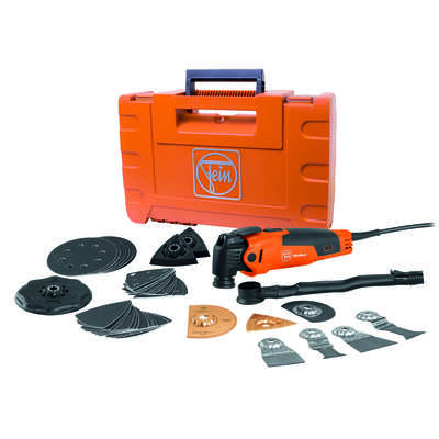 Fein  MultiMaster  3 amps 110 volt Corded  Oscillating Multi-Tool  Kit  19500 opm Orange