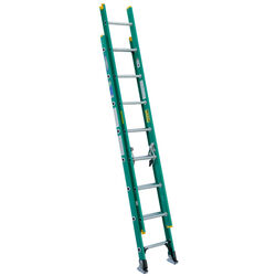 Werner  16 ft. H x 17.75 in. W Fiberglass  Extension Ladder  Type II  225 lb.