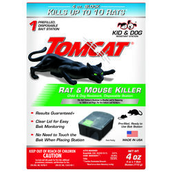 Tomcat  Bait Station  Blocks  For Mice and Rats 1 pk