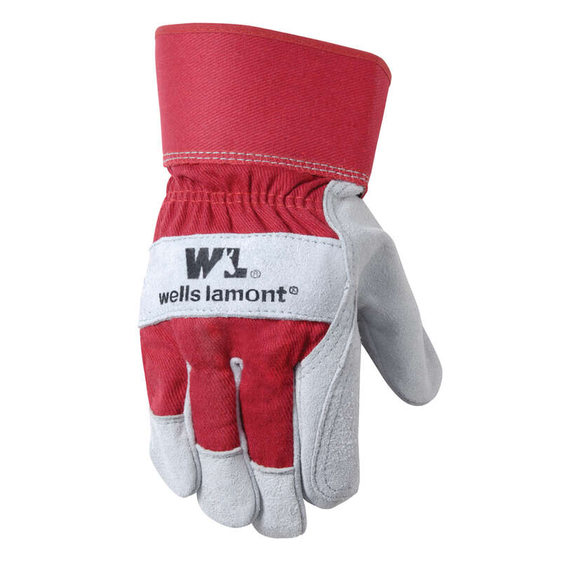 Wells Lamont Universal Cowhide Leather Work Gloves Red XL 1 each
