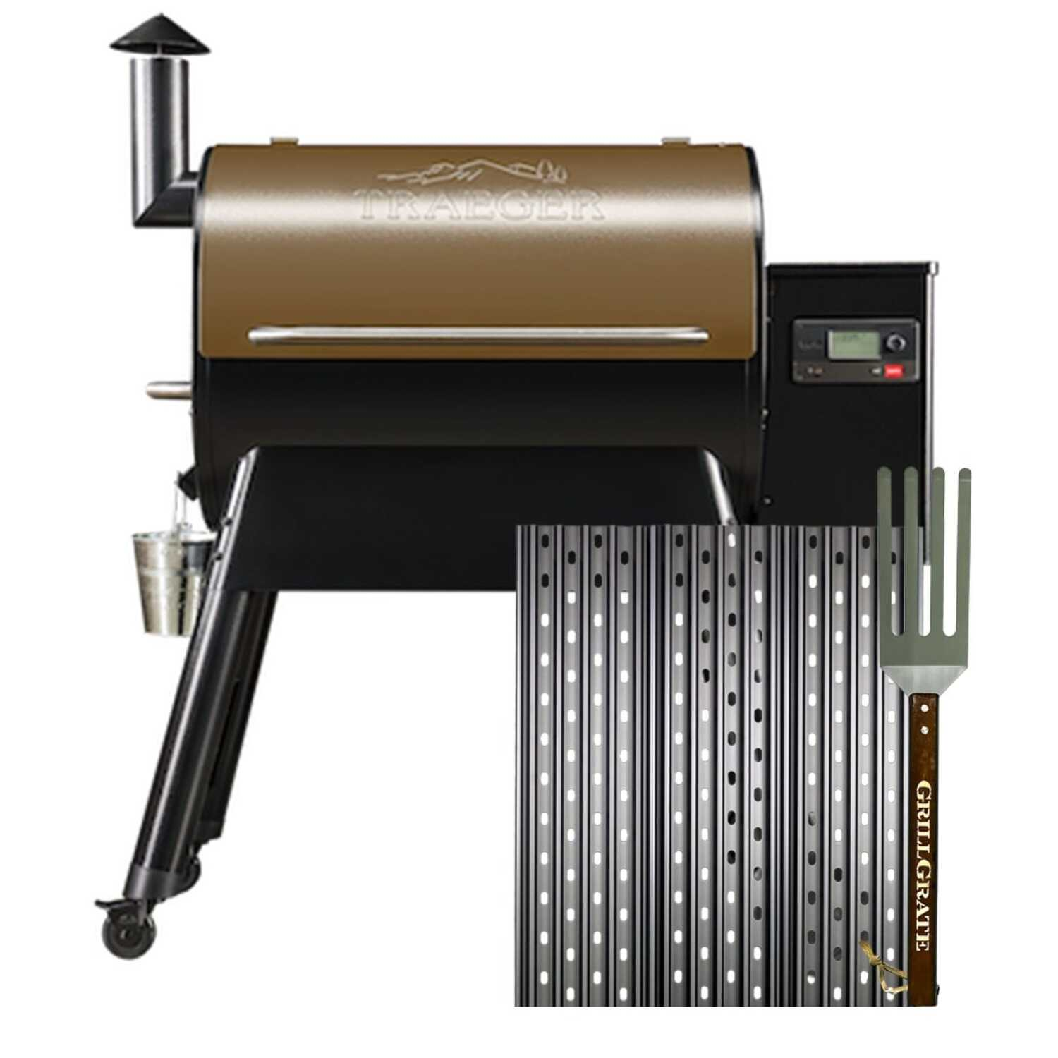 GrillGrate  Aluminum  Grill Grate Kit  Traeger Pro and other pellet and gas grills