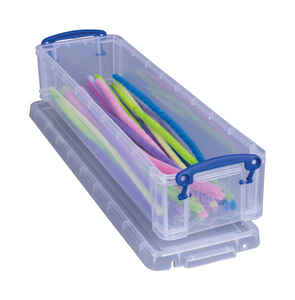 Really Useful Box  2-3/4 in. H x 4 in. W x 14 in. D Stackable Storage Box