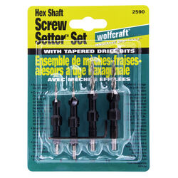 Wolfcraft Steel Tapered Screw Setter Set 4 pc.