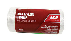 Ace 18 in. Dia. x 1050 ft. L White Twisted Nylon Twine