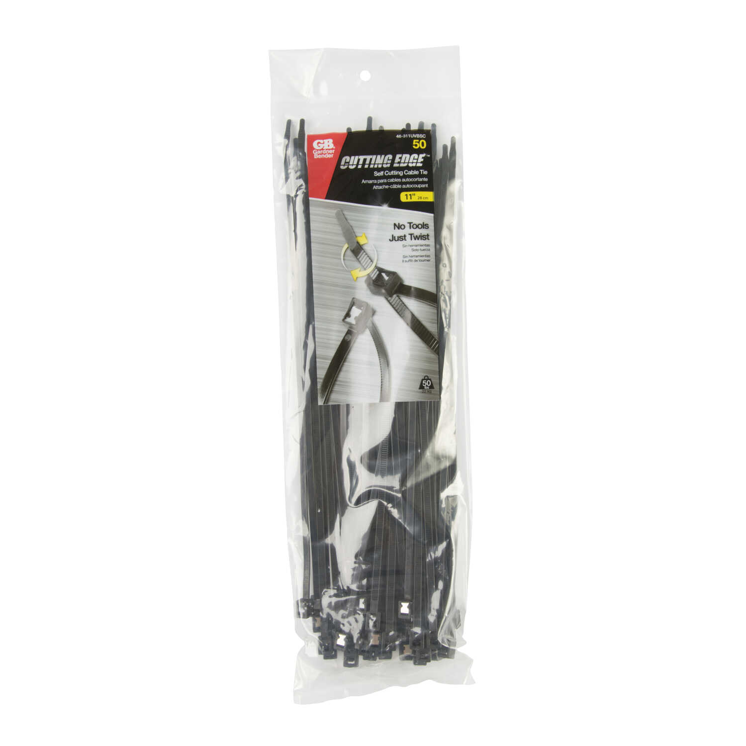 Gardner Bender  11 in. L Black  Cable Tie  50 pk
