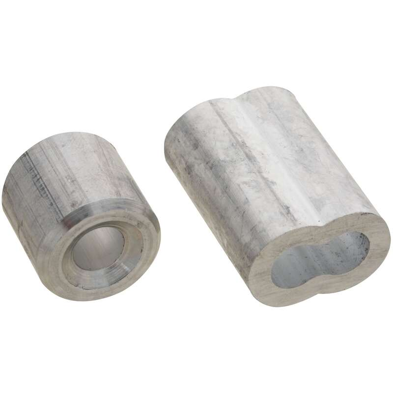 National Hardware 1/4 in. Dia. Aluminum Cable Ferrules and Stops