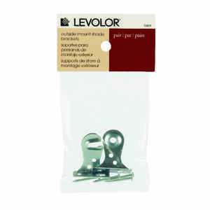 Levolor  Silver  Window Shade Bracket  3.3 in. W x 3 in. L