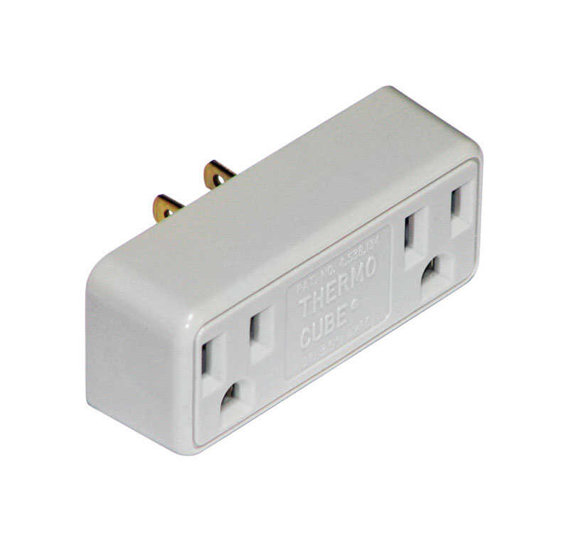 Thermocube  Non-Polarized  2 outlets Outlet Converter  Surge Protection 1 pk