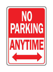 Hy-Ko  English  No Parking Anytime  Sign  Aluminum  18 in. H x 12 in. W