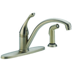 Delta  Colls  One Handle  Stainless Steel  Kitchen Faucet  Side Sprayer Included