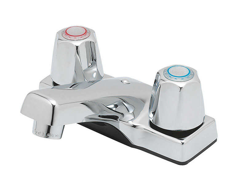 OakBrook  Compression Cartridge  Chrome  Two Handle  Lavatory Faucet  4 in.