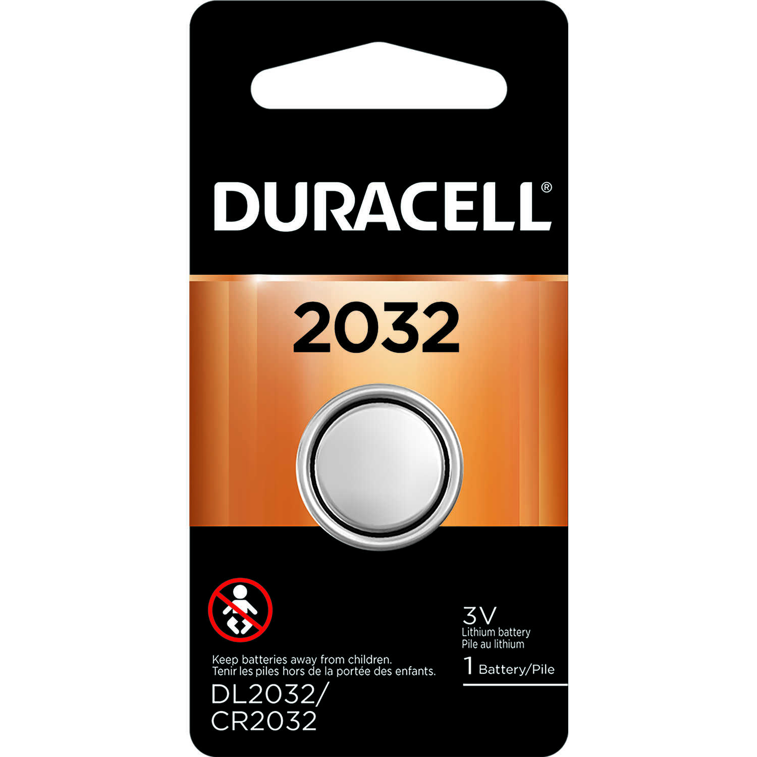 Duracell  Lithium  2032  3 volt 1 pk Security and Electronic Battery
