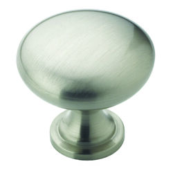 Amerock Allison Round Cabinet Knob 1-1/4 in. Dia. 1-1/8 in. Satin Nickel 1 pk